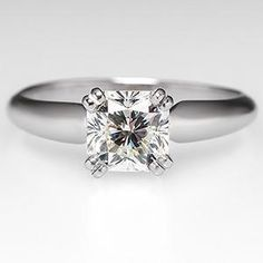 Eco-Friendly Engagement Ring Radiant Cut Diamond Platinum - EraGem