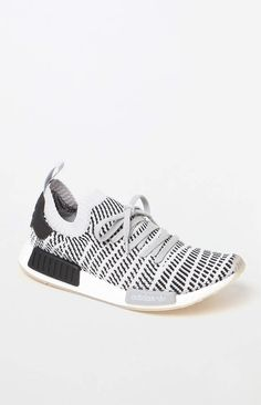 cf21ac4f34 adidas NMD_R1 STLT Grey/Grey Primeknit Shoes Rubber Texture, Casual Shoes,  Casual Outfits