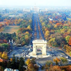 """Fall, in Bucharest - Bucharest was once known as the """"Paris of the East""""."""