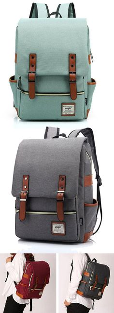 Vintage Canvas Travel Backpack Leisure Backpack&Schoolbag for big sale! #canvas #school #backpack #Bag #cute