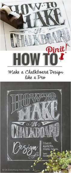 How to make a Chalkboard Design - Pin for later
