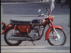 """1972 Honda CD175 (mine was resprayed metallic green) - this was the """"delivery…"""