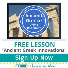 Sign up to get your free homeschool lesson about inventions from ancient Greece.