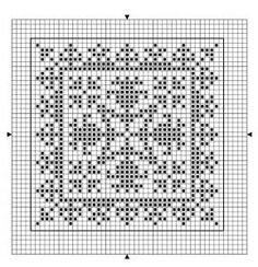 Square 09 | Free chart for cross-stitch, filet crochet | Chart for pattern - Gráfico
