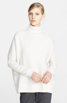 Nordstrom Signature Waffle Knit Cashmere Turtleneck Ivory Soft X   Top, Sweater, Clothing and Tee Shirt