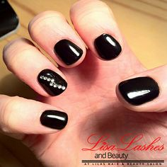 Black Acrylic Nails in Burnley