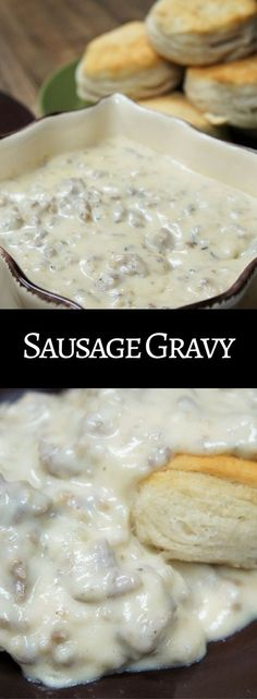 Sausage gravy is the perfect dish for brunch, and it works for breakfast-for-dinner too. My family has been enjoying this sausage gravy for years. My step-dad would make this on leisurely Sunday mornings, and we loved it! Served over warm biscuits, this thick, creamy, and super flavorful gravy is comfort food at its best. I hope your family enjoys this sausage gravy as much as mine does.