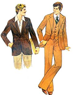 1970s Mens Suit Pattern Simplicity 8443 Mens Three by paneenjerez, $10.00