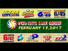 PCSO LOTTO RESULTS FEBRUARY 15, 2017 (EZ2, SWERTRES, 4D, 6/45 & 6/55) Lotto Results, Oita, Positive Affirmations, Pop Tarts, Work On Yourself, Youtube, February 3, Youtubers, Youtube Movies