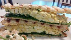 Healthy Egg Salad Panini Healthy Egg Salad, Sushi, Sandwiches, Eggs, Tasty, Baking, Ethnic Recipes, Food, Bakken