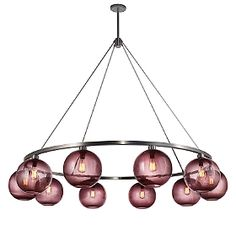 Sophisticated chandelier with a touch of color! nichemodern.com