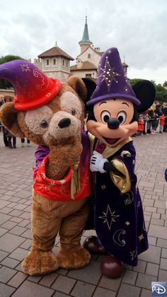 Mickey & Duffy in Disneyland Paris