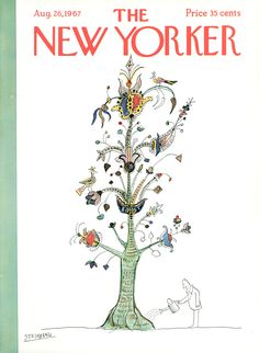 The New Yorker - Saturday, August 26, 1967 - Issue # 2219 - Vol. 43 - N° 27 - Cover by : Saul Steinberg
