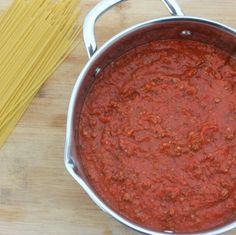 BEST EVER Homemade Italian Spaghetti Sauce Recipe