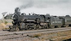 New York Central class Pacific steam locomotive # is seen hauling a passenger train at West Haverstraw, New York Fall Of Constantinople, New York Central Railroad, Railroad History, Abandoned Train, Train Pictures, Old Trains, Train Engines, Train Car, Steam Engine