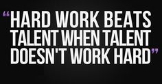 """It only takes a little bit of """"Hard Work"""""""