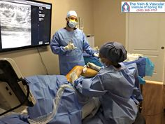Vascular surgeon Dr. Valentin and her surgical assistant Steve, performing laser varicose vein treatment to close up this patient's malfunctioning veins. Learn more about laser treatment for varicose veins by visiting: https://www.veinandvascularofspringhill.com/service/varicose-vein-treatment/  #LaserTreatmentForVeinsSpringHillFL #VaricoseVeinLaserSurgerySpringHillFL #EndovenousLaserTherapySpringHillFL #LaserVaricoseVeinTreatmentSpringHillFlorida