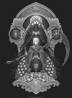 Bloodborne piece i did for Meatbun T shirts-- check it out here! www.amazon.com/dp/B011W10Z8W/r…
