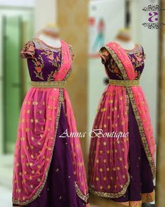 Customized partywear gowns Choices on fabric, design and size is available. For more details: 8883122233 Long Dress Design, Girls Frock Design, Kids Frocks Design, Baby Frocks Designs, Lehenga Designs, Half Saree Designs, Kids Saree, Kids Lehenga, Kids Dress Wear