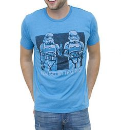 Men's Blue Stormtroopers You get My Text Bro Star Wars T-Shirt from Junk Food xoxo