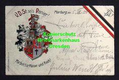 114468 AK Studentika Marburg 1909 V.D.St. sei´s Panier Mit Gott für Kaiser und R | eBay