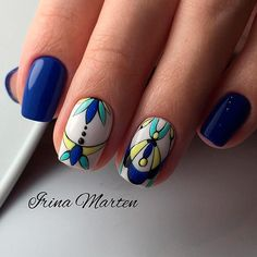 27 Stunning Examples of Cobalt Blue Nails For Elegant Ladies ❤️ Stylish Tribal Pattern Nails picture 2 ❤️ Cobalt blue … Perfect Nails, Gorgeous Nails, Love Nails, Red Nails, Pretty Nails, Hair And Nails, Nail Art Designs, Colorful Nail Designs, Gel Nail Art