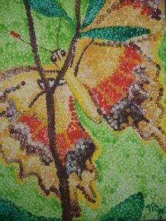 Pointilism Butterfly Kid Friendly Art, 7th Grade Art, Art Camp, High School Art, Arts Ed, Stippling, Studio Art, Arts And Crafts Projects, Art Plastique