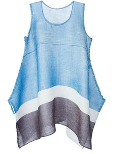 Issey Miyake Cauliflower - Flared Colour Block Vest: