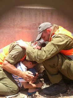 An Israeli women shared this online saying that on her way back home she heard the rocket sirens while sitting in her car. When she got out, soldiers from an IDF vehicle nearby gathered around the woman's son and protected him with their own bodies. This is the true face of the Israel Defense Forces - protecting and preserving life.