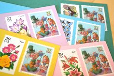 """~Alice in Wonderland~  Pre-stamped Alice in Wonderland stationery set is ready to be mailed as the perfect UNbirthday gift to the Alice fan in your Wonderland; or each card may be sent separately as your own personal stationery. This gift-wrapped bundle makes a wonderful tea party hostess gift, and also work wonderfully as whimsical """"unbirthday"""" cards... which can be mailed to your friends & family any day of the year EXCEPT their birthday!"""