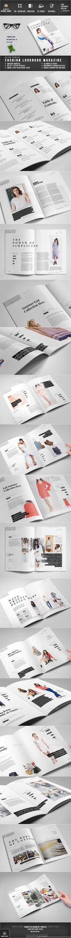 Minimal Portfolio Brochure INDD Template InDesign Template - fashion design brochure template