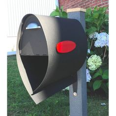 The Spira Small Mailbox – Black holds your mail securely and keeps it safe from the elements. The bottom bin allows magazines and newspapers to.