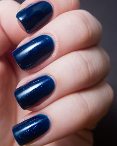 Contrary Polish Bright Night swatched by Chalkboard Nails