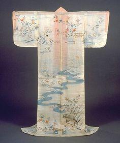 Kimono with Nonomiya shrine on it