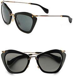Miu Miu Noir Catwalk Cat's-Eye Sunglasses #summer #style #sunglasses