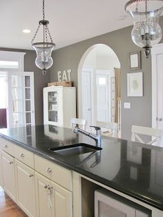 The Kitchen Before & After: Texas Leather paint by Benjamin Moore