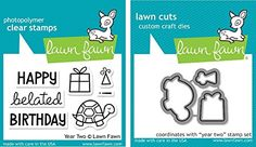 Lawn Fawn Year Two Clear Stamp and Die Set - Includes One Each of LF510 Stamp & LF834 Die - Bundle Of 2 Lawn Fawn http://www.amazon.com/dp/B014RNCTUO/ref=cm_sw_r_pi_dp_DAFFwb0ZXG7E7