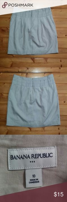 """🔴Was $20 Banana Republic Mini Skirt Size 10, Color Beige Waist across front 16"""", Length 16"""", Lined Rayon, Cotton, Linen blend Banana Republic Skirts Mini"""