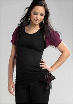 Women's Lauren Kiyomi Synthetic Cashmere Top with Attached Wool Shrug (Maternity) - More Colors Available. http://todaydeals.me/viewdetail.php?asin=B000UOFXVM