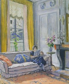 André, Albert (French, 1889-1954) - Interior, Woman Reading