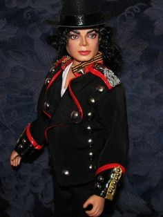 Michael Jackson doll dressed in Military style jacket.