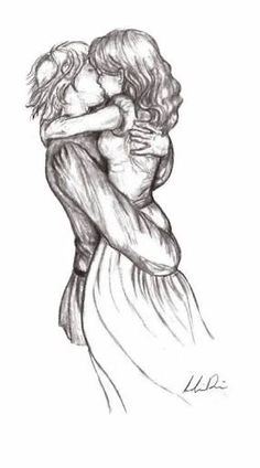 drawing boy and girl hugging - Google Search