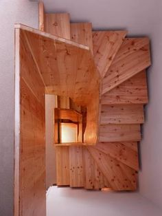 Photo: Timber Staircase London, UK by Nicholas Kane : Timber Staircase, Modern Staircase, Spiral Staircase, Staircase Design, Staircase Ideas, Staircase For Small Spaces, White Staircase, Staircase Remodel, Loft Stairs