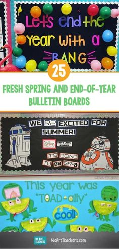 25 Fresh Spring and End-of-Year Bulletin Boards. Summer is in sight, but you're not there yet! These fun spring and end-of-year bulletin boards will keep kids engaged until the final bell rings. September Bulletin Boards, Kindergarten Bulletin Boards, Summer Bulletin Boards, Christmas Bulletin Boards, Library Bulletin Boards, Washi, Classroom Displays, Library Displays, Book Displays