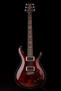 Guitar Center: Platinum : PRS P22 Flame Top w/Birds and Piezo in Fire Red Burst