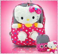removable kitty kids children shoulder dot school bags Bolsas plush Backpack for girls Mochila The Knapsack Cute School Bags, School Bags For Girls, Backpack Bags, Fashion Backpack, Girl Backpacks, Kids Bags, Different Shapes, Hello Kitty, Baby Kids