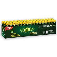 PerfPower  AAA Alkaline Batteries 48 Pack $9.99