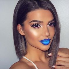 Blue ombré lips by @exteriorglam @exteriorglam  @exteriorglam ✨✨ #amazing #auroramakeup #anastasiabeverlyhills #beauty #beautiful  #eyes #eyemakeup #fashion  #girls #instamood #instalove  #lips #makeup #maquiagem #mua #maquillage #maccosmetics #hudabeauty #motivecosmetics  #pretty #stunning #instamakeup  #universodamaquiagem #universodamaquiagem_oficial #vegas_nay #makeupaddict #wedding #universodamaquiagembrasil