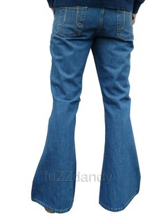 Men's Vintage Bell Bottom Jeans | Denim Bell bottom Flares (Vintage Stonewash Blue). Bell Bottoms. Jeans ...