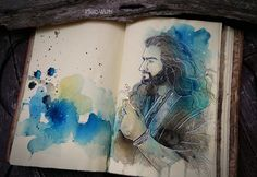 watercolor in sketchbook Society6FACEBOOKTUMBLRETSYInstagram